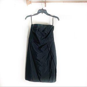 Loft strapless black little dress size 6